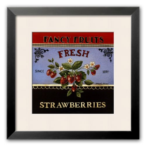 Art.com Fresh Strawberries Framed Art Print by Kimberly Poloson