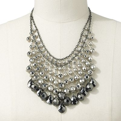 Apt. 9 Beaded Bib Necklace