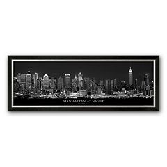 Art.com 'Manhattan at Night, New York City' Framed Art Print by Richard Sisk