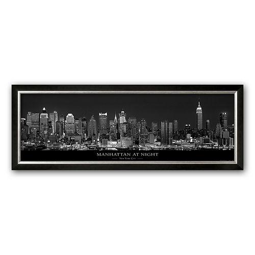 "Art.com ""Manhattan at Night, New York City"" Framed Art Print by Richard Sisk"