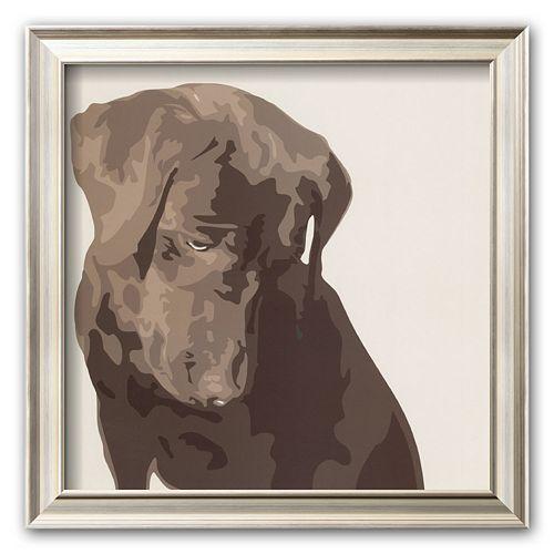 Art.com Chocolate Labrador Framed Art Print by Emily Burrowes