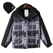 ZeroXposur Black Revel Snowboard Jacket with Hat