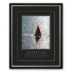 Art.com 'Attitude: Sailing' Framed Art Print