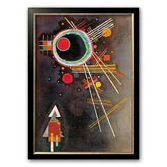 Art.com 'Strahlenlinien' Framed Art Print by Wassily Kandinsky