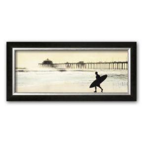Art.com Surfer at Huntington Beach Framed Art Print by Thea Schrack