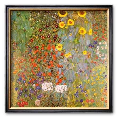 Art.com Country Garden with Sunflowers Framed Art Print by Gustav Klimt