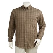 Arrow Plaid Heritage Twill Casual Button-Down Shirt - Big and Tall