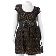 HeartSoul Lace Dress - Juniors' Plus