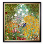 """Art.com """"Flower Garden"""" Framed Art Print by Gustav Klimt"""