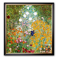 Art.com 'Flower Garden' Framed Art Print by Gustav Klimt