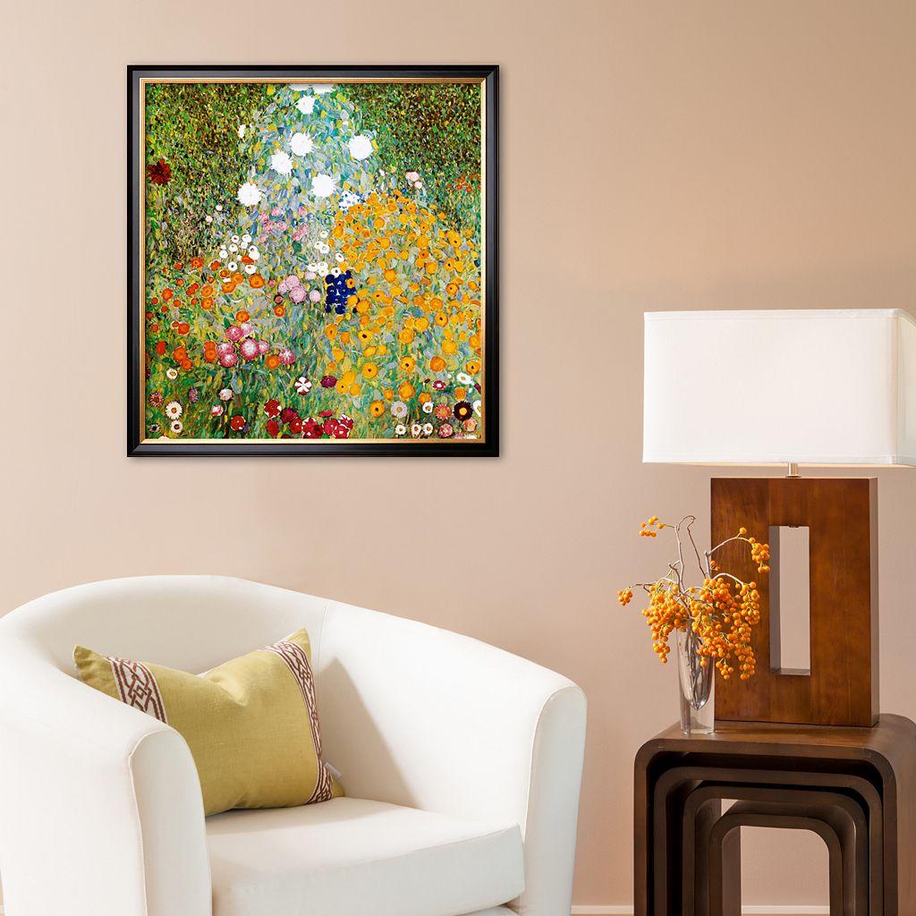 Art.com Flower Garden Framed Art Print by Gustav Klimt