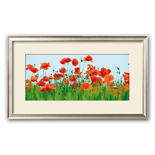 Art.com Poppy Fields Framed Art Print by Jan Lens