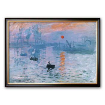 Art.com Impression Soleil Levant Framed Art Print by Claude Monet
