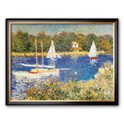 Art.com 'Bassin d'Argenteuil, c.1874' Framed Art Print by Claude Monet