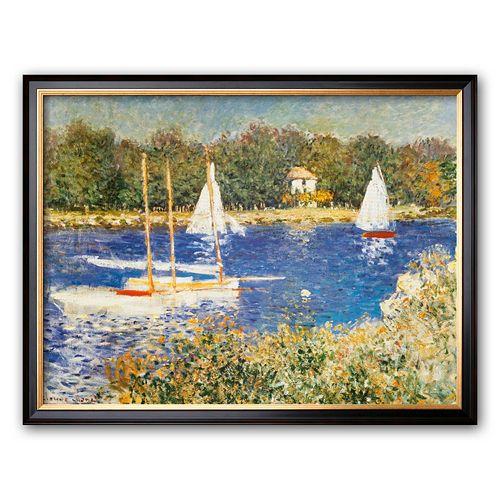 """Art.com """"Bassin d'Argenteuil, c.1874"""" Framed Art Print by Claude Monet"""