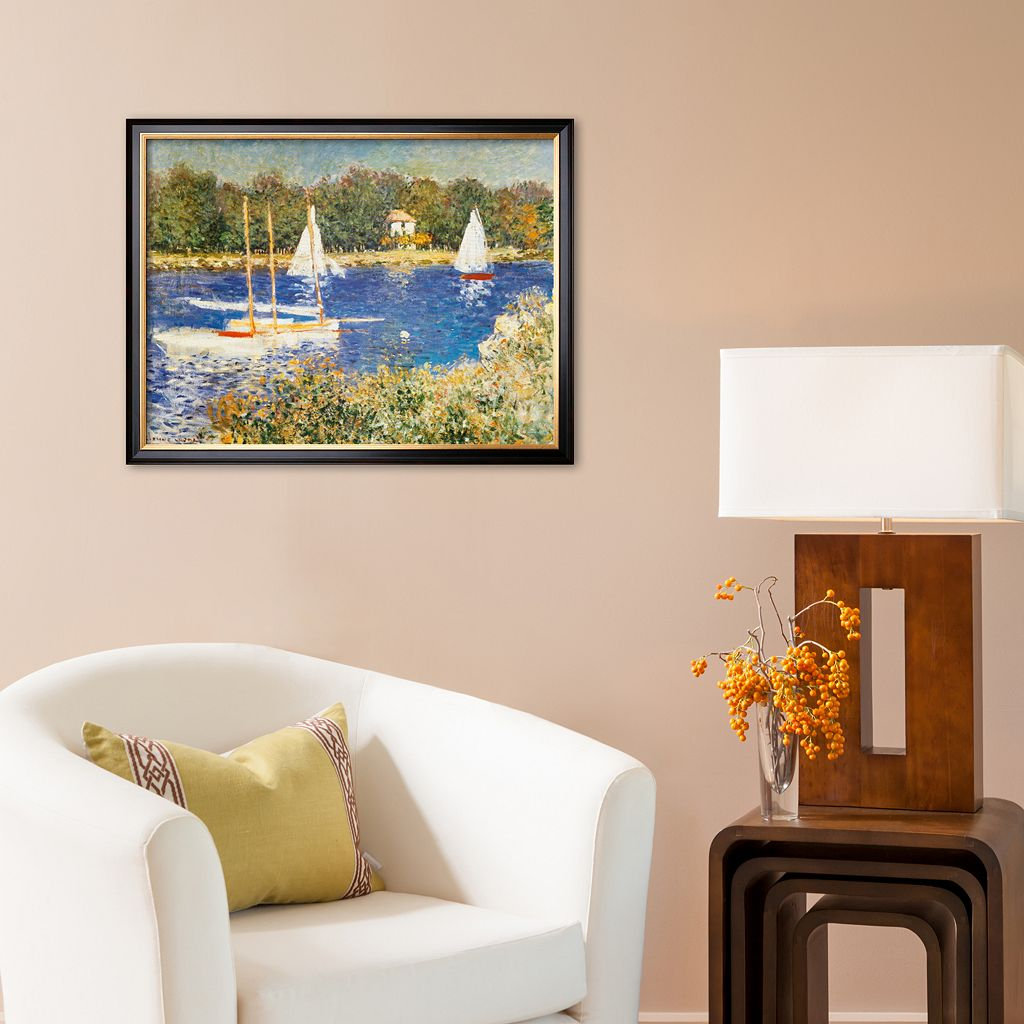 Art.com Bassin d'Argenteuil, c.1874 Framed Art Print by Claude Monet