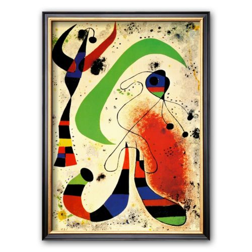 Art.com Night Framed Art Print by Joan Miró
