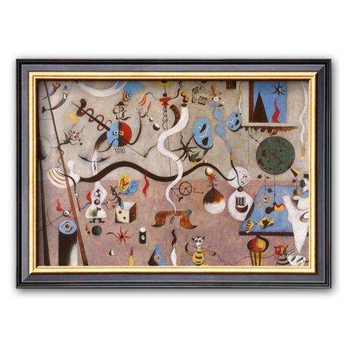 Art.com Carnival of Harlequin Framed Art Print by Joan Miró