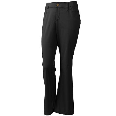Croft and Barrow Curvy Fit Bootcut Twill Pants