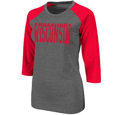 Wisconsin Badgers Raglan Tee - Juniors'