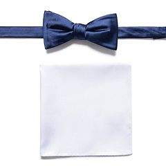 Apt. 9® Solid Pretied Bow Tie & Pocket Square