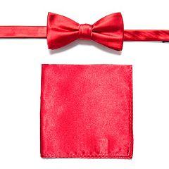 Apt. 9® Solid Pretied Bow Tie & Pocket Square
