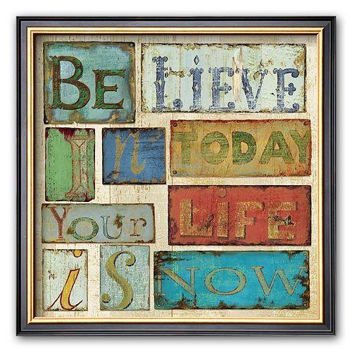 Art.com Believe and Hope I Framed Art Print by Daphne Brissonnet