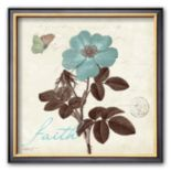 "Art.com ""Touch of Blue II, Faith"" Framed Art Print by Katie Pertiet"