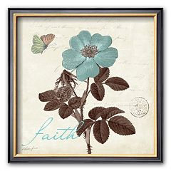 Art.com 'Touch of Blue II, Faith' Framed Art Print by Katie Pertiet