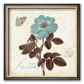 Art.com Touch of Blue II, Faith Framed Art Print by Katie Pertiet