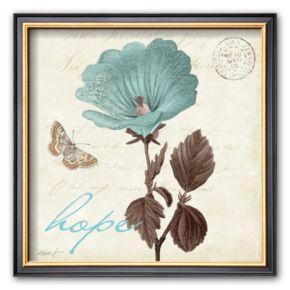 Art.com Touch of Blue III, Hope Framed Art Print by Katie Pertiet