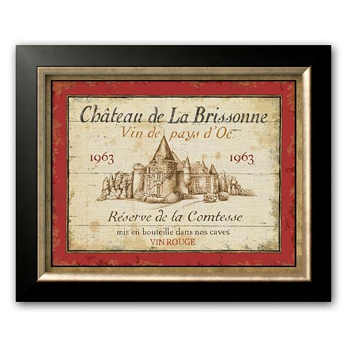 Art.com French Wine Labels I Framed Art Print by Daphne Brissonnet