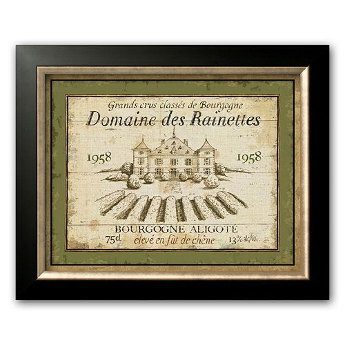 "Art.com ""French Wine Labels III"" Black Framed Art Print by Daphne Brissonnet"