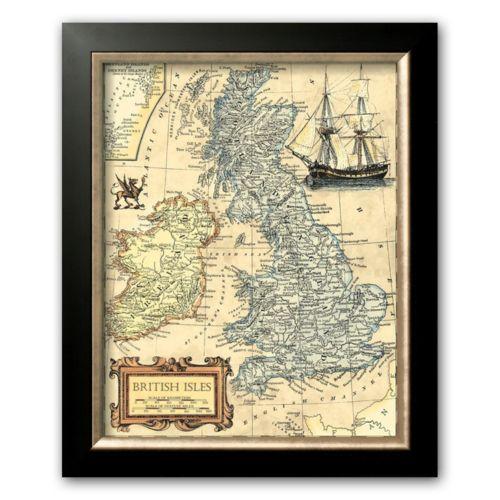 Art.com British Isles Map Framed Art Print