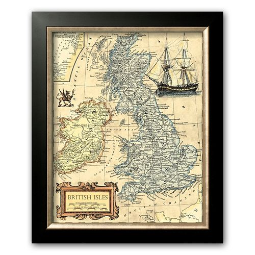 Art.com British Isles Map Framed Art Print