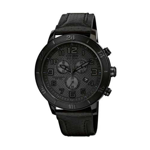 Drive from Citizen Eco-Drive Women's Leather Chronograph Watch - AT2205-01E