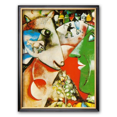 Art.com I and the Village Framed Art Print by Marc Chagall