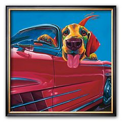 Art.com ''Dog About Town'' Framed Art Print by Ron Burns