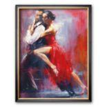"""Art.com """"Tango Nuevo I"""" Framed Art Print by Pedro Alverez"""