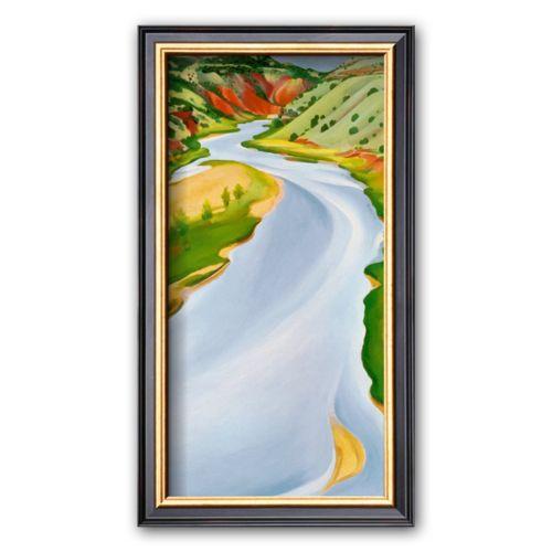 Art.com Chama River, Ghost Ranch, 1937 Framed Art Print by Georgia O'Keeffe