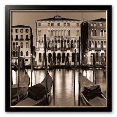 Art.com 'Il Gran Canale di Notte' Framed Art Print by Alan Blaustein