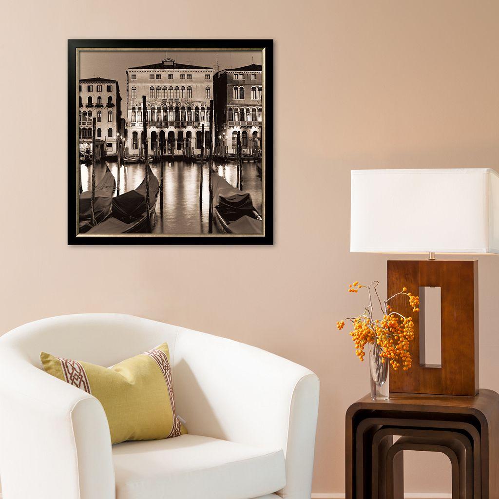 Art.com Il Gran Canale di Notte Framed Art Print by Alan Blaustein