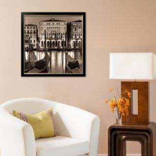Art.com Il Gran Canale di Notte Framed Art Print by Alan Blaustein
