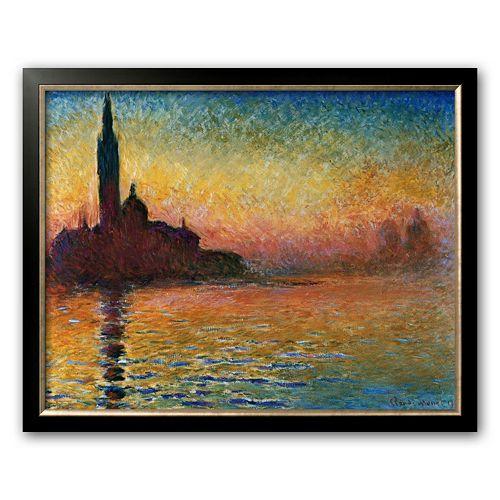 """Art.com """"Sunset in Venice"""" Framed Art Print by Claude Monet"""