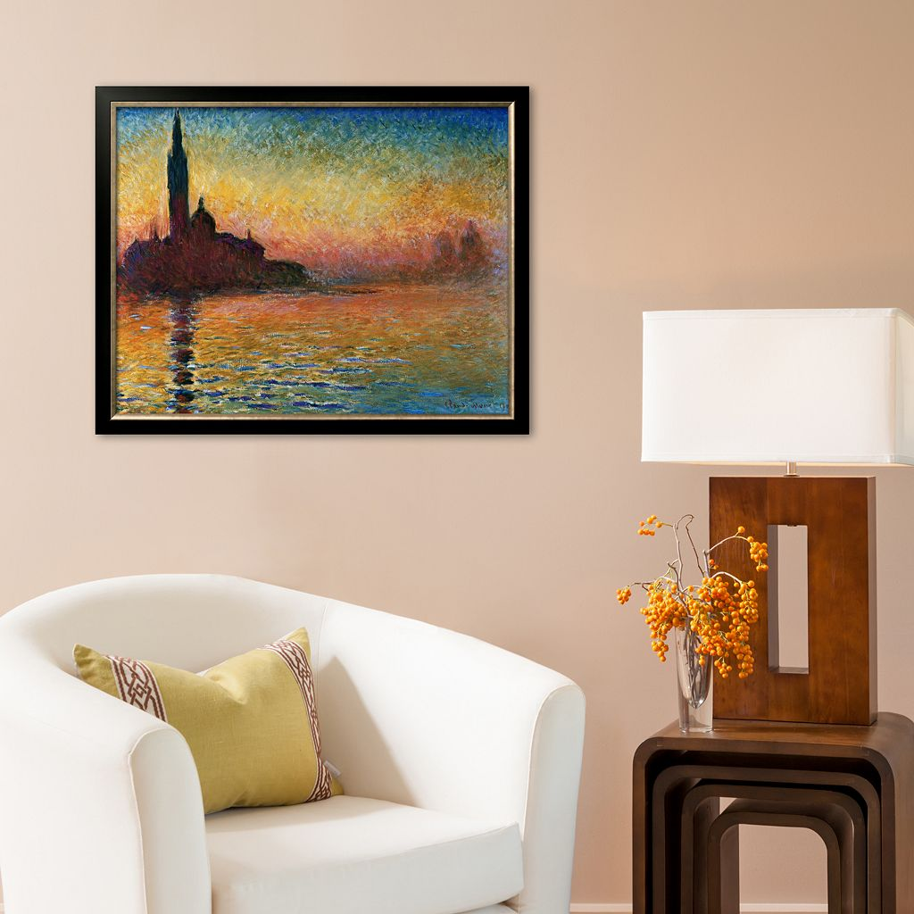 Art.com Sunset in Venice Framed Art Print by Claude Monet