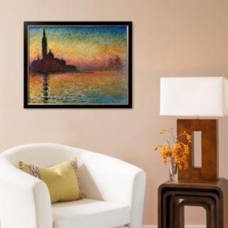 Art.com Sunset in Venice Framed Art Print by Claude Monet