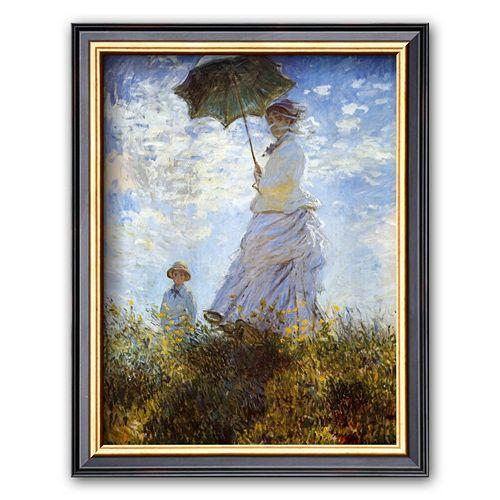 Art.com Madame Monet and Her Son Framed Art Print by Claude Monet