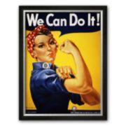 """Art.com """"We Can Do It! (Rosie the Riveter)"""" Framed Art Print by J. Howard Miller"""