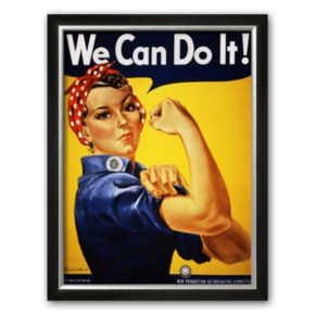 Art.com We Can Do It Rosie the Riveter Framed Art Print by J. Howard Miller