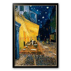 Art.com 'The Cafe Terrace on the Place du Forum, Arles, at Night, c. 1888' Framed Art Print by Vincent van Gogh